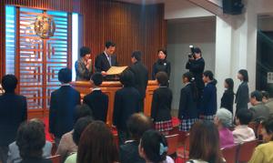 成和子女部卒業式